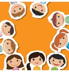 Smiling children flat style vector