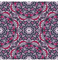 Ethnic abstract floral pattern vector