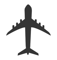 Black airplane design graphic vector