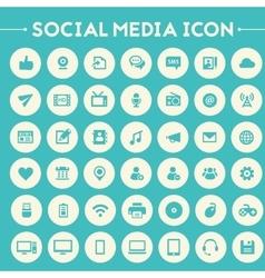 Big social media icon set vector