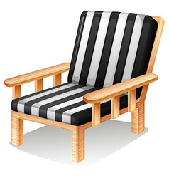 A relaxing chair vector