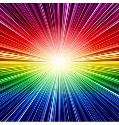 Abstract rainbow stripes burst background vector