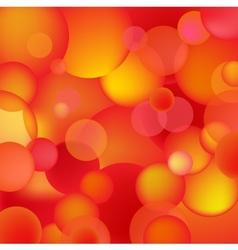Abstract red and orange bubbles vector