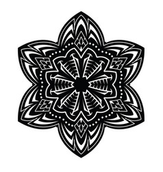 abstract tattoo mandala vector image vector image