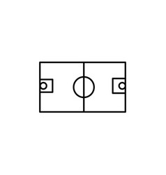 Basketball field icon vector
