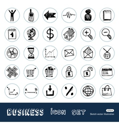 Business shopping vector image