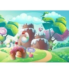 cartoon sweet cake vector image