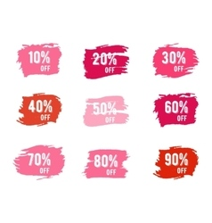 Christmas sale percents new year black friday vector image