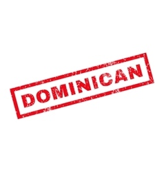 Dominican rubber stamp vector