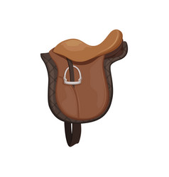 English saddle brown leather equestrian vector