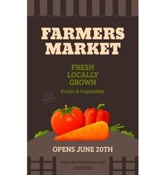 Farmers market poster vector