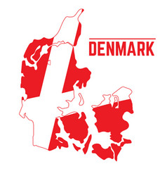 flag and map of denmark vector image