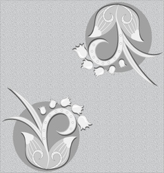 Floral background - black and white vector image