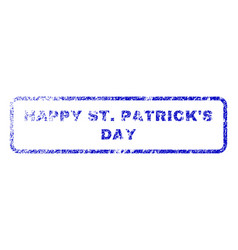 Happy stpatrick s day rubber stamp vector