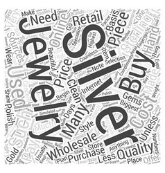 How to buy silver jewelry wholesale word cloud vector