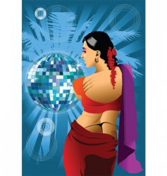 Indian girl vector image vector image