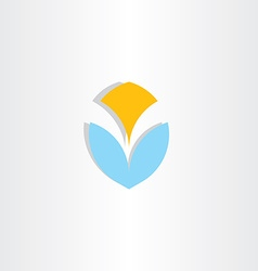 Letter v logo logotype blue yellow icon element vector