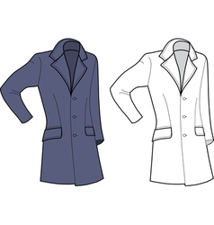 Man coat vector