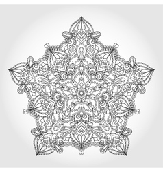 Mandala star backgroundtribalethnic pattern vector