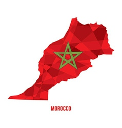 Map of Morocco vector image vector image