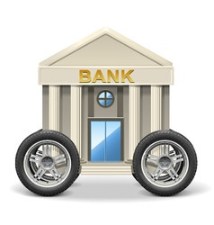 Mobile bank vector
