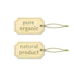 Organic tags set 12 vector image