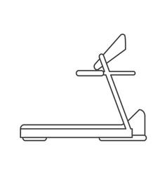 Outline treadmill machine sport fitness vector