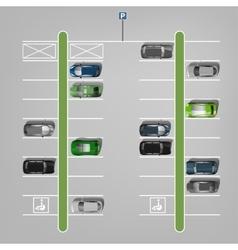 Parking Lots vector image vector image