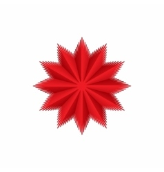 Red star icon cartoon style vector