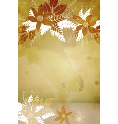 Rustic Abstract Floral Background vector image vector image