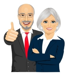 senior business people partners standing together vector image