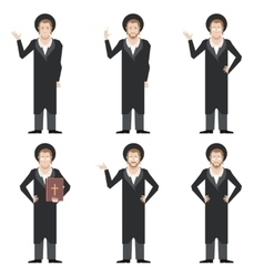 Set of Jews vector image