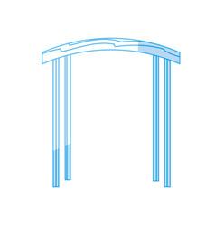 Silhouette arc decorative design to special vector
