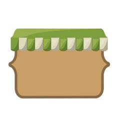 Wooden emblem blank vector