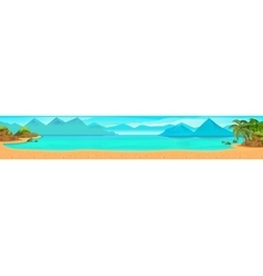 Sea panorama tropical beach background vector