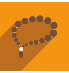 Flat icon with long shadow arab rosary vector