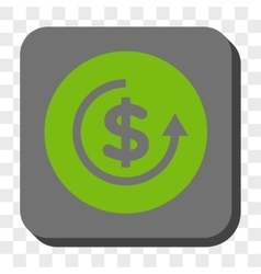 Refund Rounded Square Button vector image