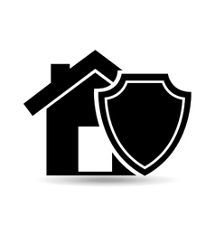 House and security icon vector