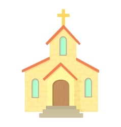 Church icon cartoon style vector