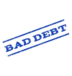 Bad debt watermark stamp vector