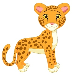 Cite cheetah cartoon vector