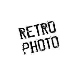 Retro photo rubber stamp vector