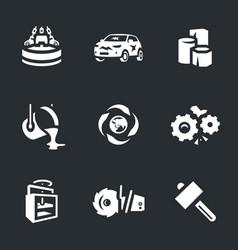 Set of scrap processing icons vector