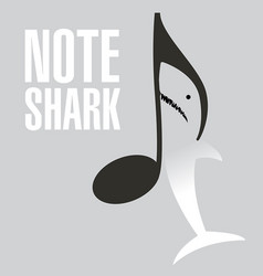 A great white shark note vector