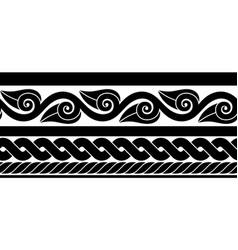 Classic ancient roman border vector