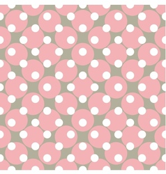 Seamless pink pattern with polka dots vector