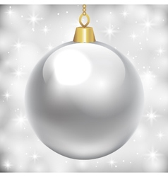 Silver baubles vector