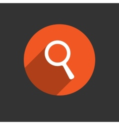 Search icon magnifying glass vector