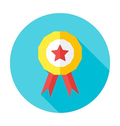 Competition award flat circle icon vector