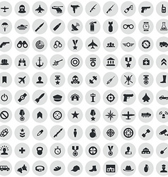 100 army icons vector
